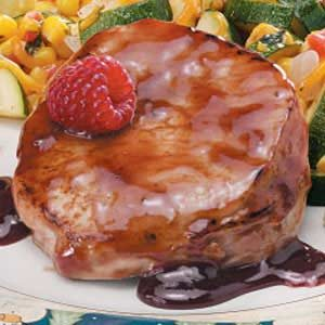 Fast Raspberry Pork Chops Recipe