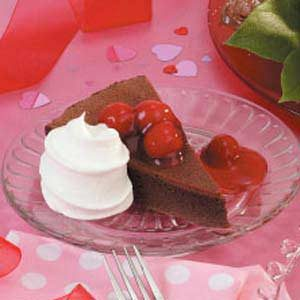 Cherry-Topped Chocolate Cake Recipe