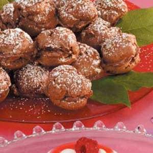 Chocolate-Hazelnut  Cream Puffs Recipe