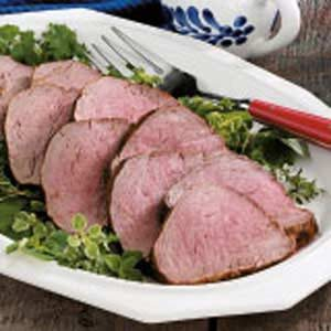 Mustard-Herb Grilled Tenderloin Recipe