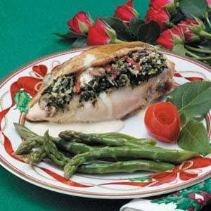 Spinach-Mushroom Stuffed Chicken Recipe