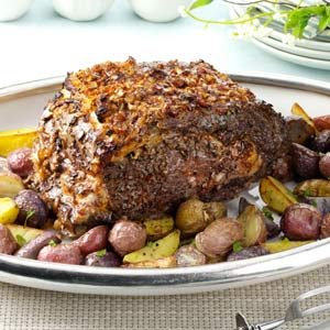 Garlic 'n' Pepper Prime Rib Recipe