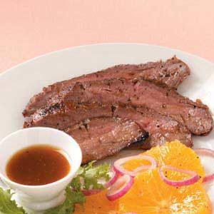 Flank Steak with Orange Sauce Recipe