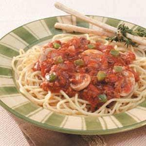Herbed Mushroom Spaghetti Sauce Recipe