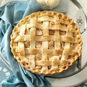 Lattice-Topped Apple Pie