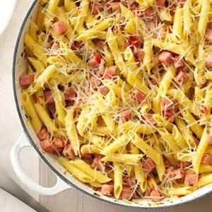 Pretty Penne Ham Skillet Recipe