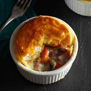Ham and Leek Pies