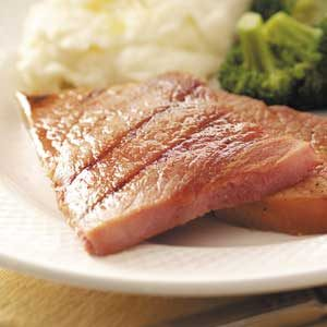 Grilled Ham Steaks Recipe