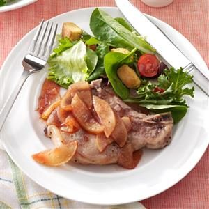 Baked Pork Chops with Apple Slices Recipe