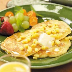 Cornmeal Ham Cakes Recipe