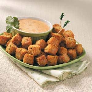Fried Ham Cubes Recipe