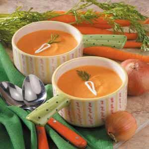 Rice and Carrot Soup Recipe