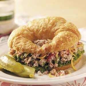 Ham Salad Croissants Recipe