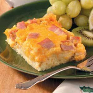 Cheddar Ham Strata Recipe