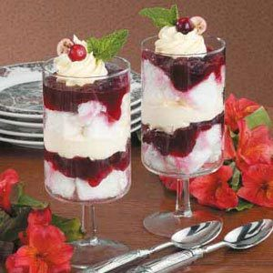 Individual Cranberry Trifles Recipe