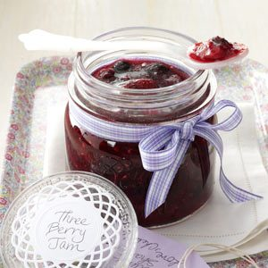 Three-Berry Jam Recipe