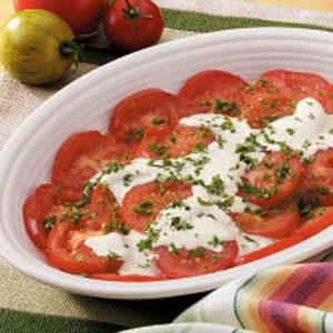 Tomatoes with Horseradish Sauce Recipe