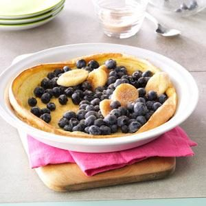 Fruit-Filled Puff Pancake Recipe