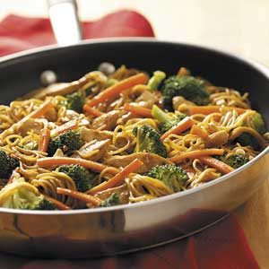 Stir Fry Chicken Lo-Mein Recipe