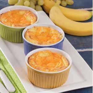 Twice-Baked Cheese Souffles Recipe