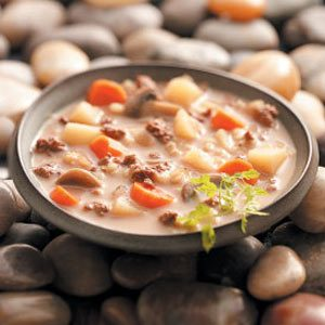 Easy Beef Barley Soup Recipe