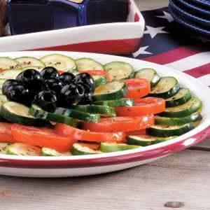 Tomato Zucchini Platter Recipe