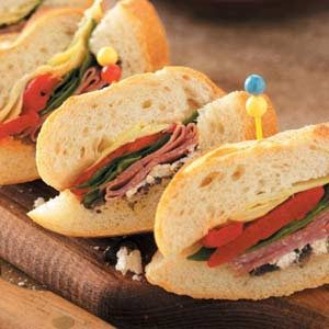 Antipasto-Stuffed Baguettes Recipe