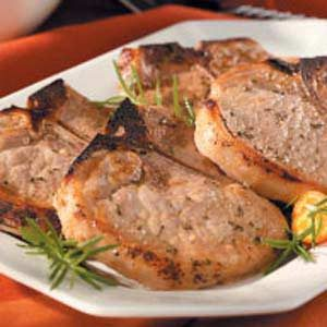 Moist Herbed Pork Chops Recipe