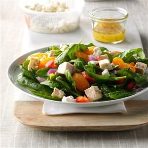 Orange Chicken Spinach Salad Recipe