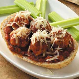 Open-Faced Meatball Sandwiches Recipe