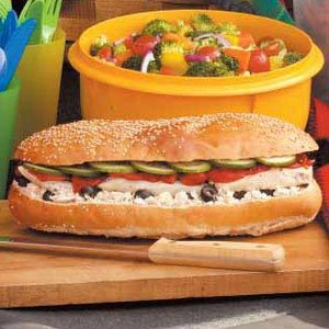 Jumbo Greek Sub Recipe