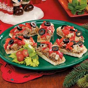 Christmas Pizza Strips Recipe