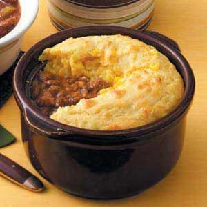 Chili with Corn Bread Topping Recipe