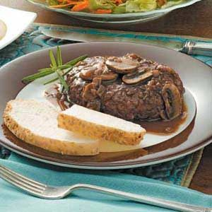 Salisbury Steak with Portobello Sauce