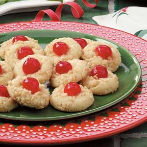 Yuletide Cherry Cookies Recipe