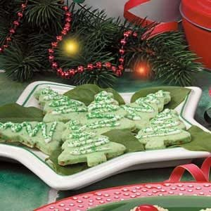 Lime Christmas Tea Cookies Recipe