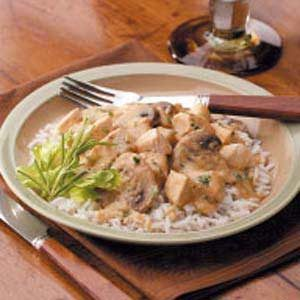 Creamed Chicken and Mushrooms Recipe