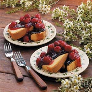 Pound Cake with Cherry Chocolate Topping Recipe