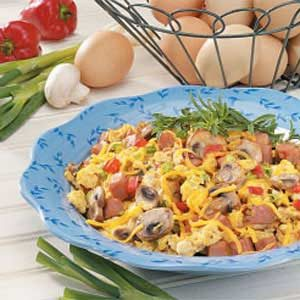 Veggie Ham 'n' Eggs Recipe