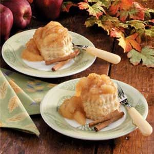 Puffed Apple Pastries Recipe
