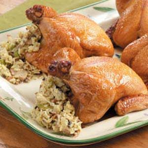Easy stuffed cornish game hen recipe