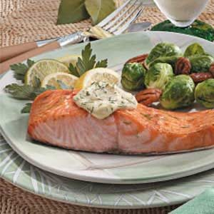Salmon with Dijon Mayonnaise Recipe