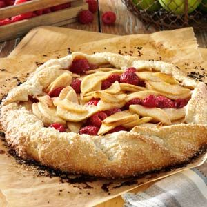 Rustic Apple Raspberry Tart Recipe