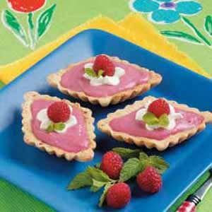 Raspberry Curd Tartlets Recipe