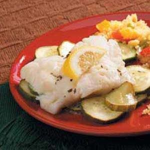 Lemony Fish and Cucumbers Recipe