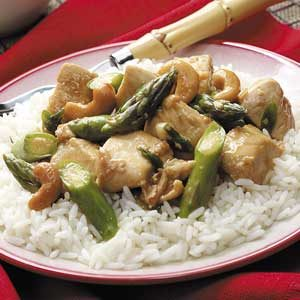 Asparagus Chicken Stir-Fry Recipe