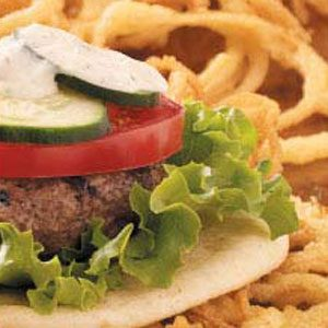 Greek-Stuffed Hamburgers Recipe