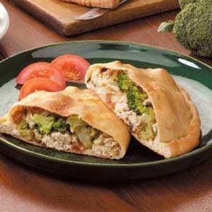 Chicken Broccoli Calzones Recipe