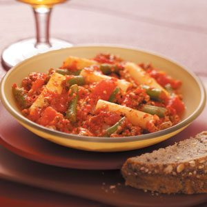Beefy Red Pepper Pasta Recipe