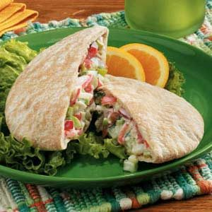 Crab Salad Pockets Recipe